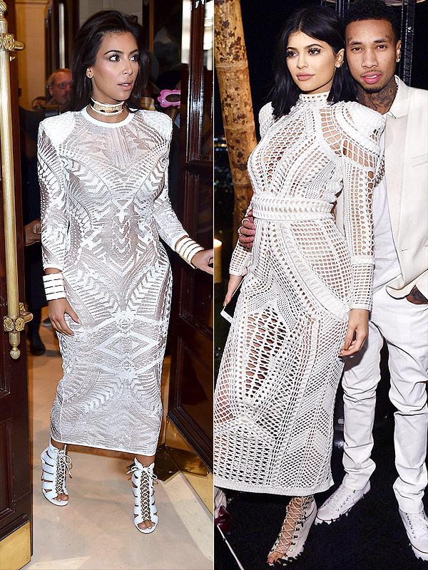 Kylie Jenner Kim Kardashian Balmain