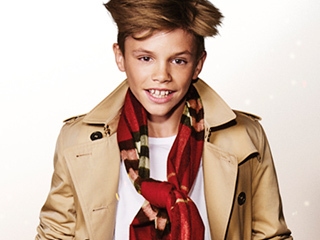 Air Buds! Romeo Beckham, Elton John, Michelle Dockery and More Jump for Joy in Burberry's Holiday Ads