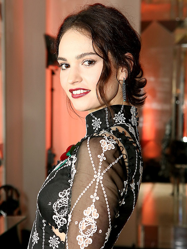 Lily James beauty look of the week