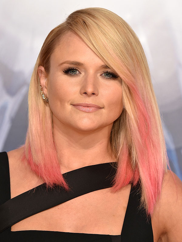 ... Pink Hair, Sexy Black Dress to First Red Carpet With Ex Blake Shelton