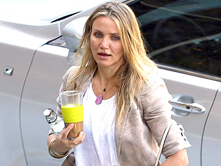 Cameron Diaz Takes Benji Madden's Name ... on Her Luxe Monogrammed Purse!