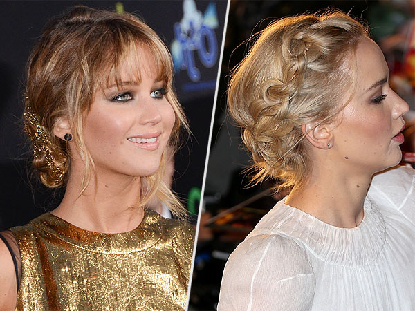 Jennifer Lawrence necklace in hair