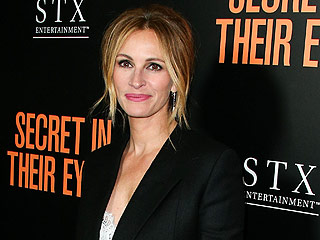 Julia Roberts Puts Sexy Spin on Her Signature Menswear Style at Secret in Their Eyes Premiere