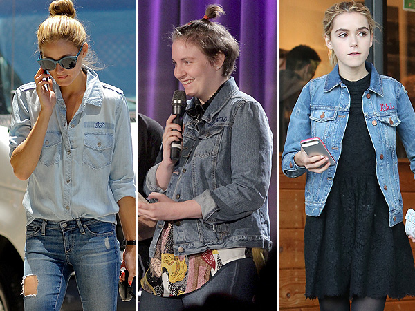 Celebrities with Monogrammed Denim Jackets