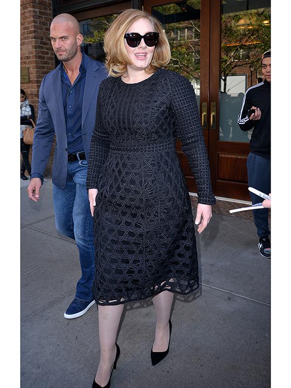 Adele black dress N.Y.C.