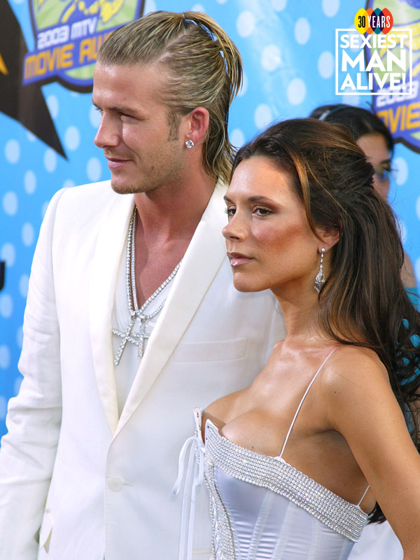 David and Victoria Beckham gucci