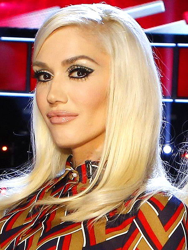 Gwen Stefani The Voice makeup