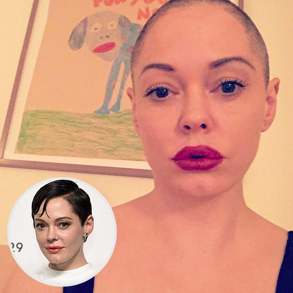 Rose McGowan Shaved Head Haircut Instagram