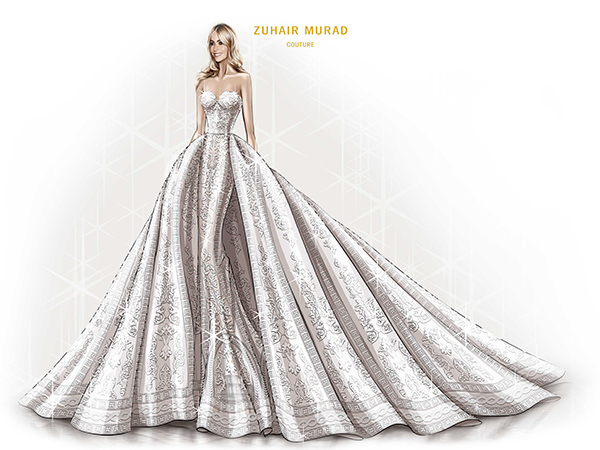 Sofia Vergara Wedding dress sketch