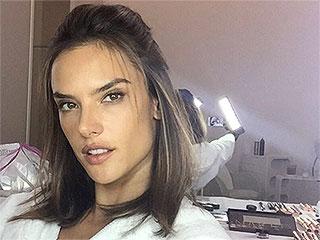 Alessandra Ambrósio's Flawless Selfie Secret: A Handheld Light (Seriously)