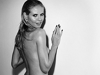 Heidi Klum Bares Her Butt in a Monogrammed Thong from Her Lingerie Line
