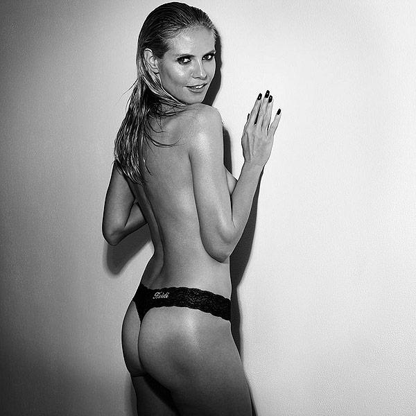 Heidi Klum Intimates Thong Instagram