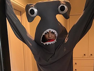 Kendall Jenner Makes a Shark Costume Look Sexy in New Holiday Photo Shoot