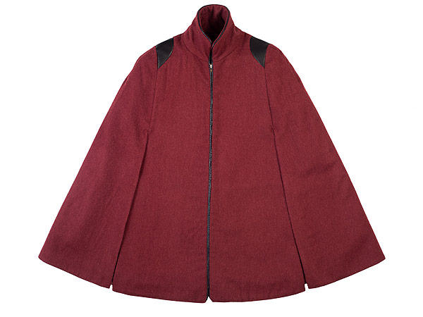 oxblood cape