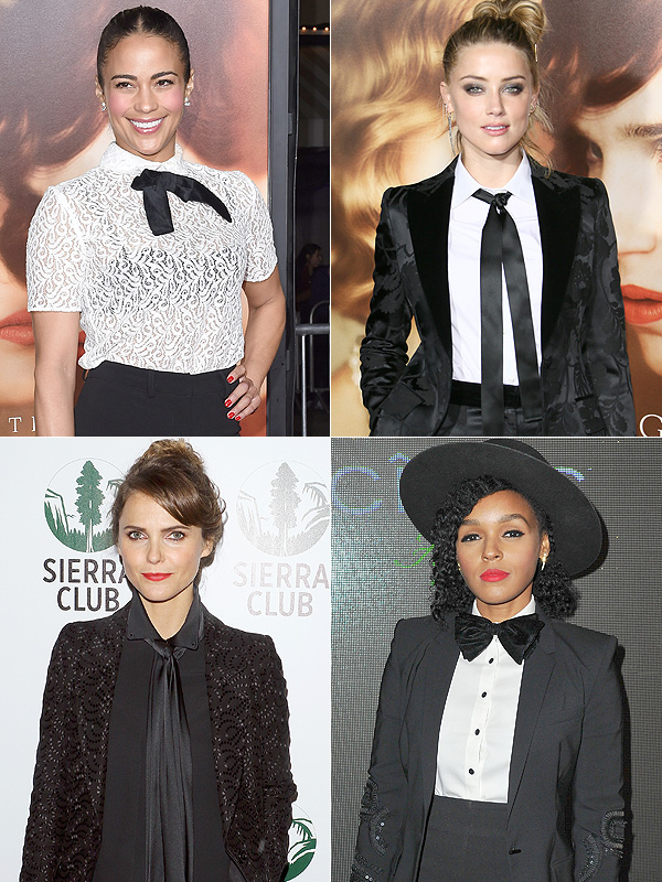 Female celebrities wearing ties