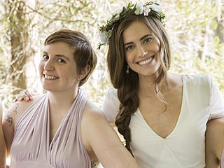 Marnie's Getting Married! See How Allison Williams' Girls Wedding Dress Compared to Her Real Life Gown