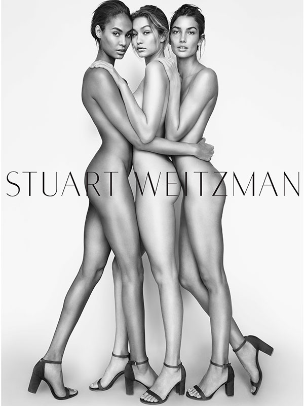 Joan Smalls, Gigi Hadid and Lily Aldridge Stuart Weitzman Spring 2016