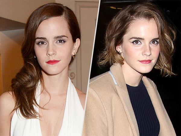 Emma Watson cuts hair into bob