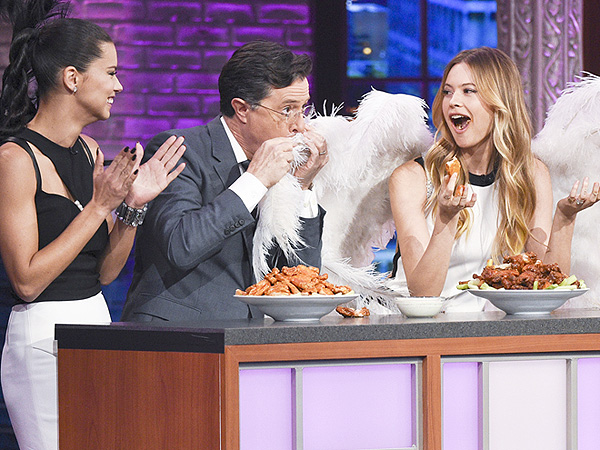 Stephen Colbert and Victoria's Secret Angels