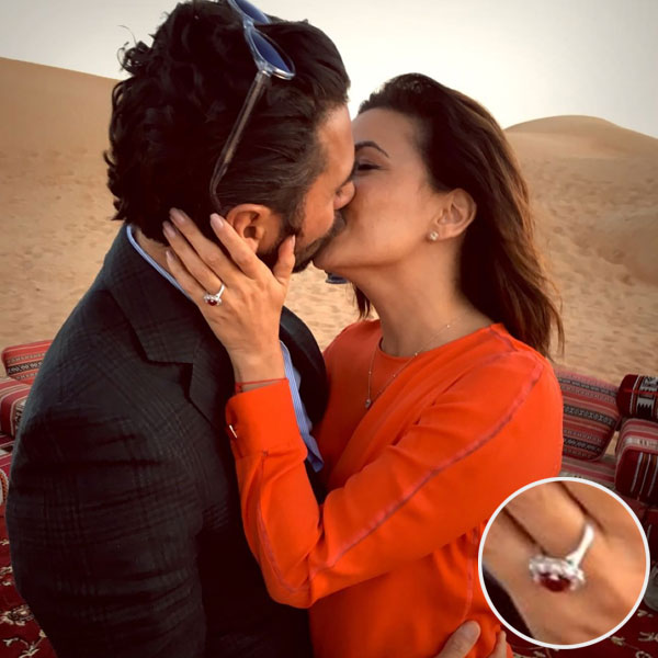 Eva Longoria Engagement Ring Instagram