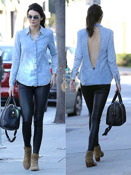 KENDALL JENNER'S CHAMBRAY TOPPER  photo | Kendall Jenner