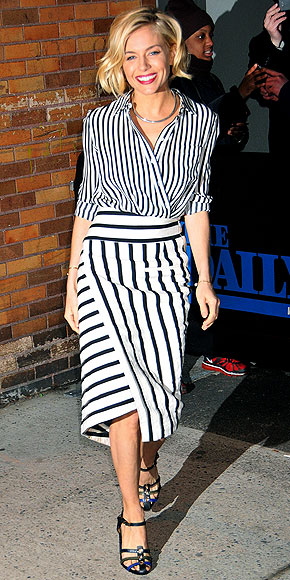 MISMATCHED STRIPES photo | Sienna Miller