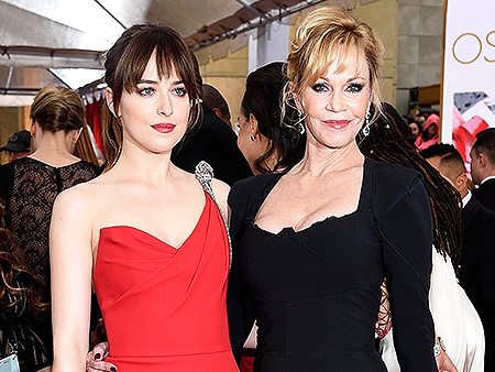 Dakota johnson and melanie griffith have a mother daughter spat on red