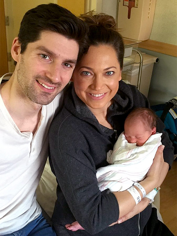 Ginger Zee Ginger  with her husband, Ben Aaron, and son