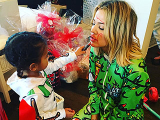Christmas with Aunt Koko: Khloé Kardashian Dons a Onesie, Gets a Makeover From North West