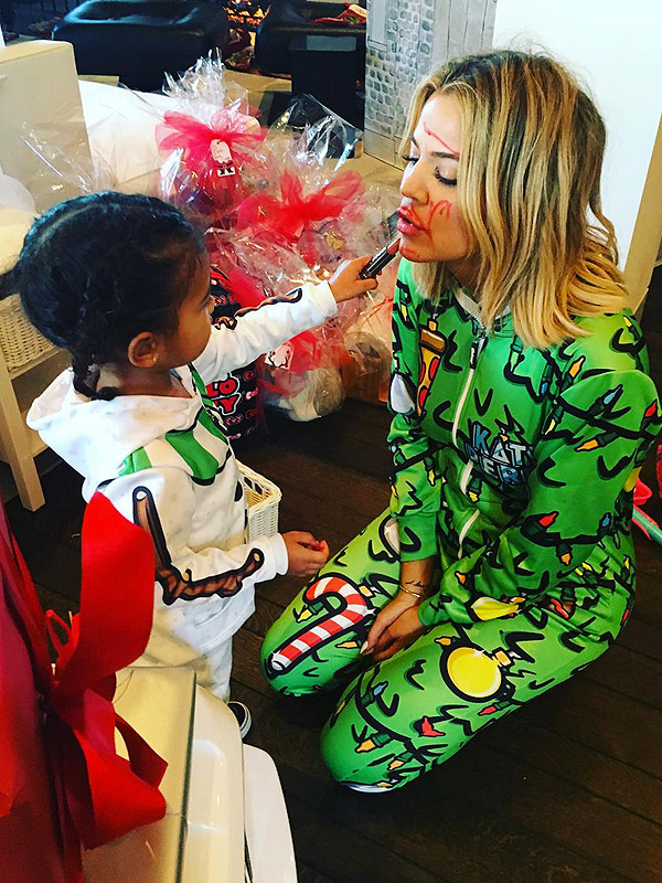 Khloé Kardashian Gets a Christmas Makeover From North West | PEOPLE.com