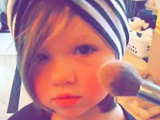 Kim Zolciak Puts Blush on 2-Year-Old Daughter Kaia: 'My Princess'