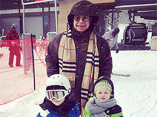 Elton John Hits the Slopes with Sons After Birthday Trip to Disneyland – See All the Sweet Snaps