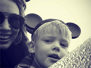 Hilary Duff Jokes Son Luca 'Just Wants to Have Big Muscles'