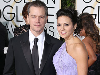 Matt Damon's Kids Loved His Wife's Princess Elsa-Esque Golden Globes Dress
