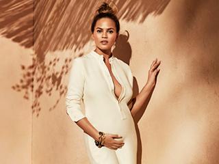Chrissy Teigen Reveals the Maternity Style Tips She Got From Kim Kardashian West: Always 'Go Stretchy'
