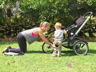 Elsa Pataky Works Out with a Stroller - and a Toddler: There's 'No Excuses'
