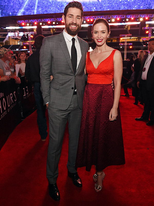 Emily Blunt pregnant expecting second child John Krasinski