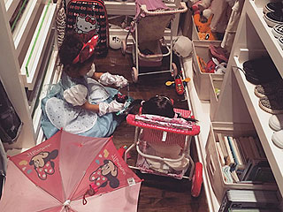 Kim Kardashian West Shares Sweet Playtime Picture of North Surrounded by Toys: 'It's Gonna Be a Long Night'