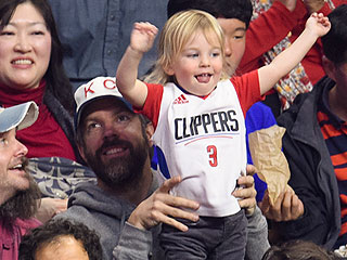 Jason Sudeikis' Son Otis Is the Cutest Clippers Fan During Boys' Night Out