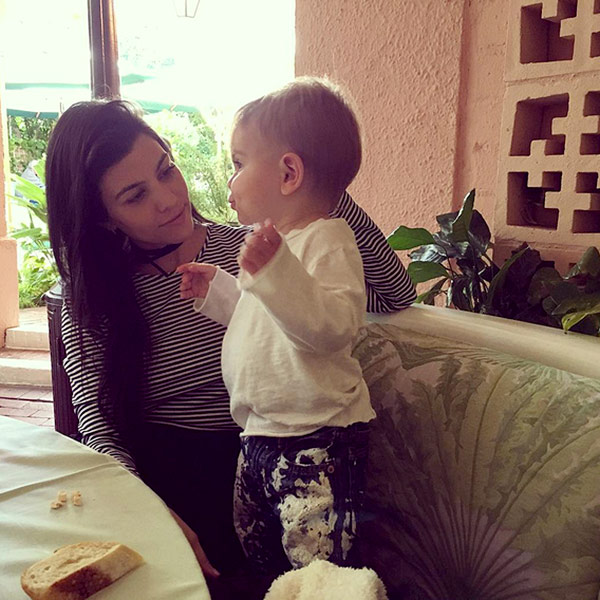Kourtney Kardashian son Reign Instagram