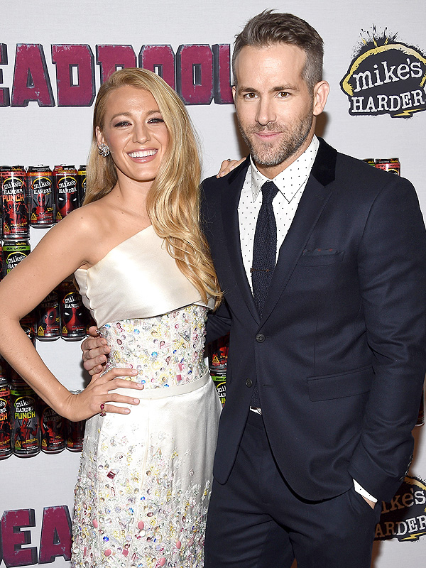 Ryan Reynolds and Blake Lively at Deadpool NYC Premiere