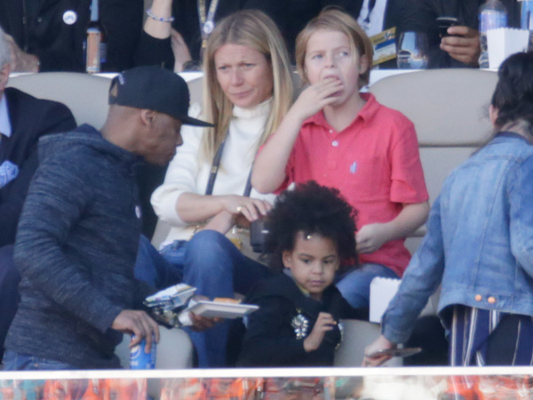 Gwyneth Paltrow Blue Ivy Super Bowl