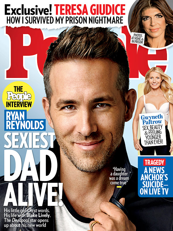 Ryan Reynolds PEOPLE magazine cover