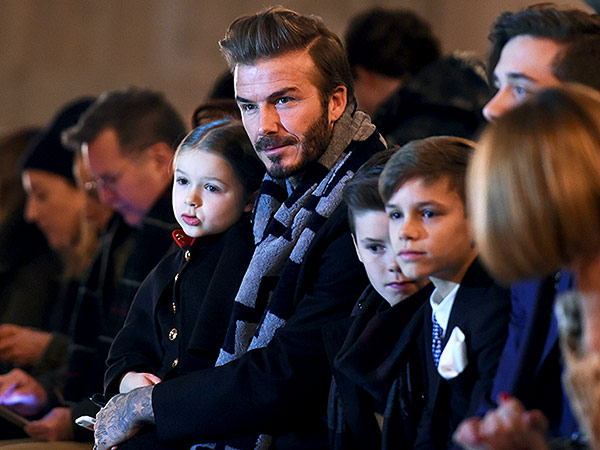 David Beckham Victoria Beckham fashion show kids