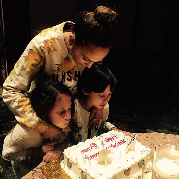 Jennifer Lopez twins birthday