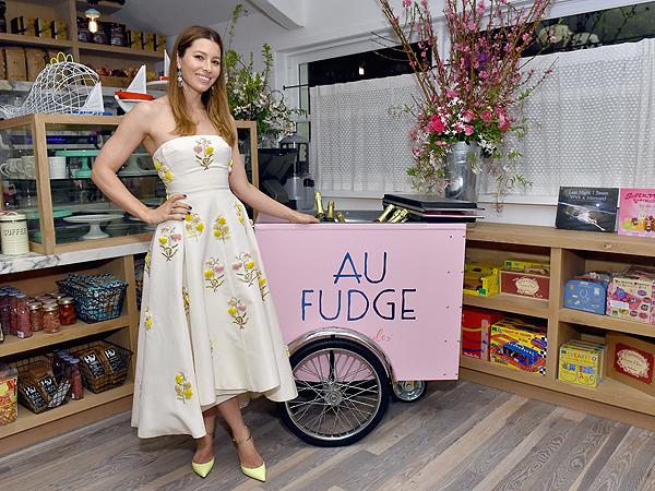 Jessica Biel Au Fudge Opening