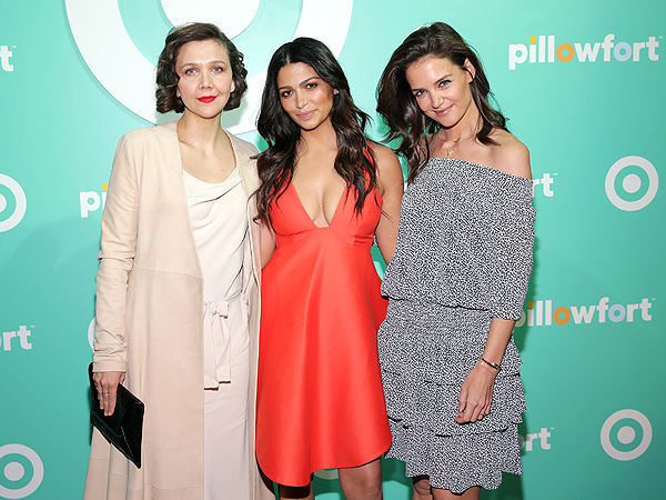 Katie Holmes Maggie Gyllenhaal and Camilla Alves Target Pillowfort