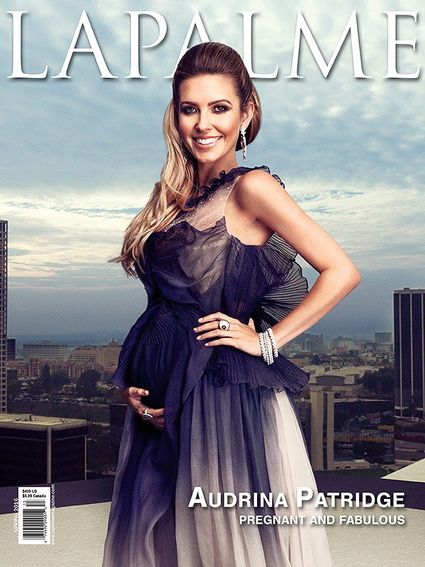 Audrina Patridge pregnant La Palme magazine