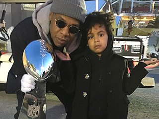 Blue Ivy Gets Up Close and Personal with the Vince Lombardi Trophy – and She Doesn't Look Terribly Impressed
