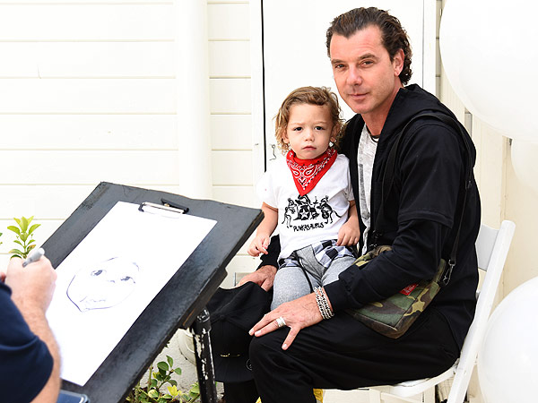 Gavin Rossdale with Apollo